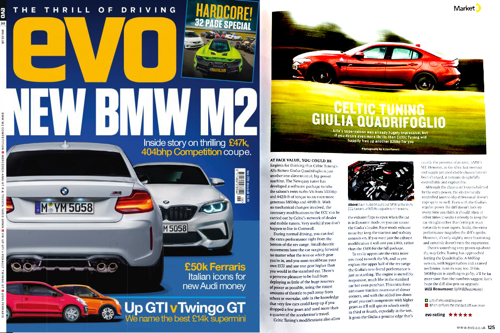 EVO Magazine Celtic Tuning June 2018'